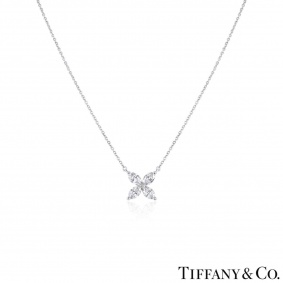 Tiffany & Co. Platinum Diamond Victoria Pendant